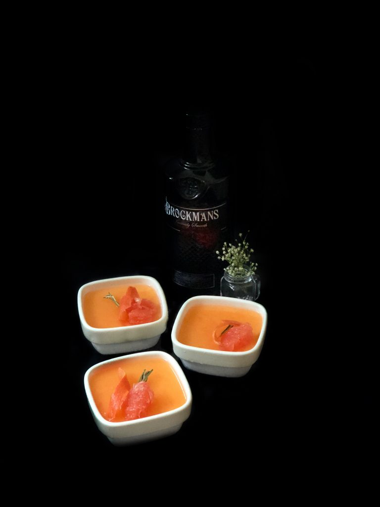 Grapefruit & Brockmans Gin Panna Cotta