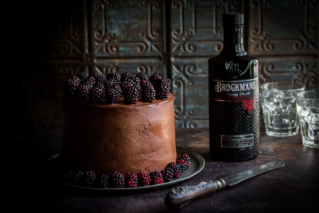 Chocolate, Blackberry & Brockmans Gin Mascarpone Layer Cake