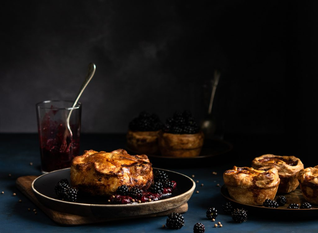 Game Pie with Brockmans Gin Berry Sauce