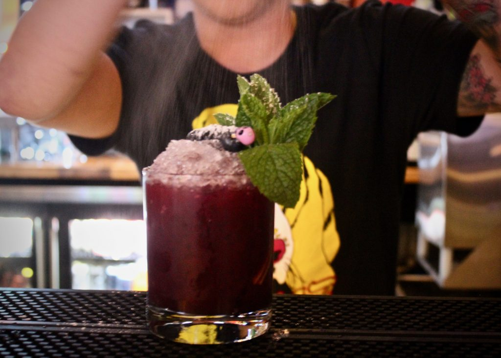 Tainah Soares makes the Bramble On at A4cade in Cambridge, Massachusetts.