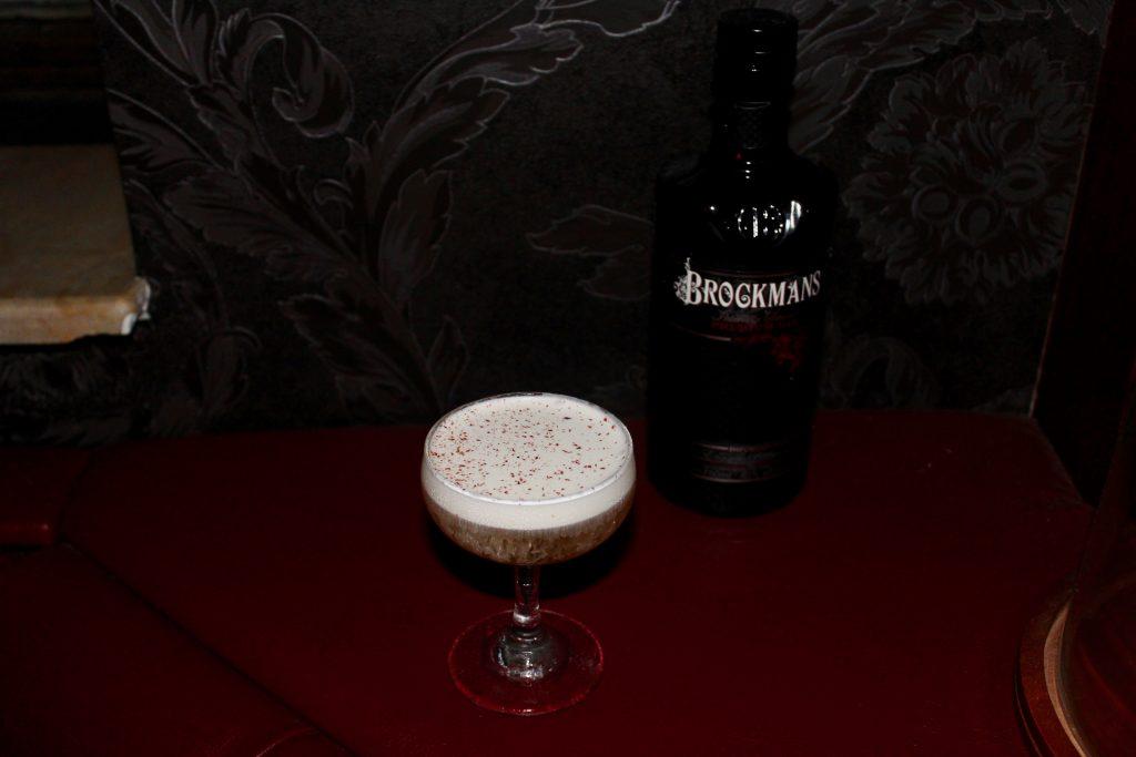 """Antonio Molinero's Brockmans cocktail, the """"Frozen Lake"""" at Kill Devil in Williamsburg, Brooklyn"""