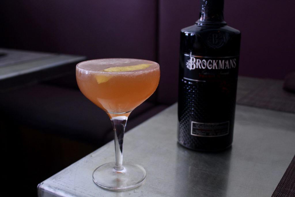Kevin makes his Brockmans cocktail at Figidini in Providence, Rhode Island.