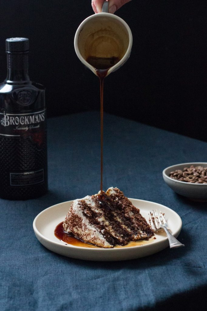 Espresso Brockmans Gin Martini Cake