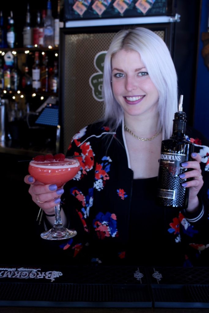"Kari Rosenfeld makes her ""Lawn Party"" with Brockmans Gin at The Thirsty Soul in Philadelphia, PA"