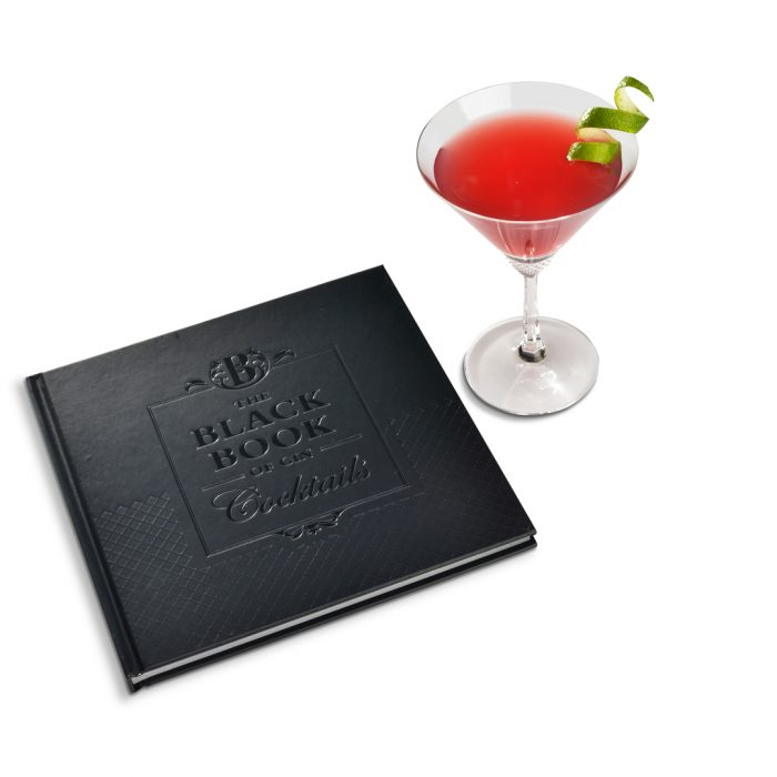 Brockmans Cocktail book in leather