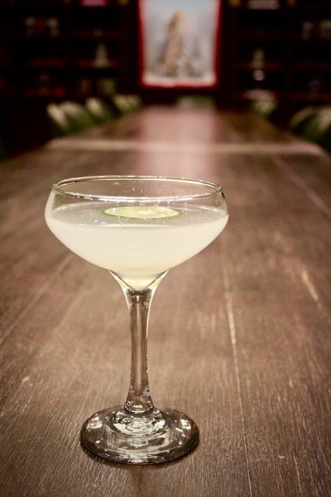 A gimlet at Explorateur in Boston, Massachusetts.