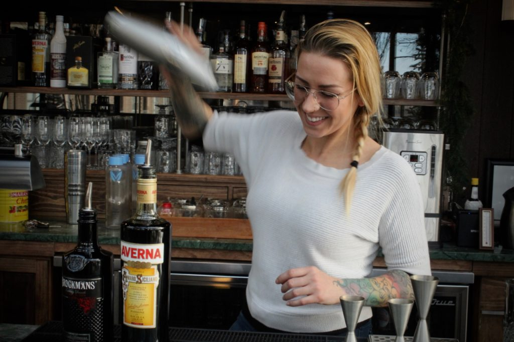 "Michela Zurstadt makes her Brockmans ""Winter Colada"" at HIgh George in New Haven, Connecticut"